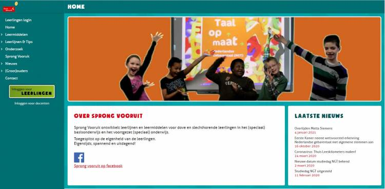 Website Sprong Vooruit