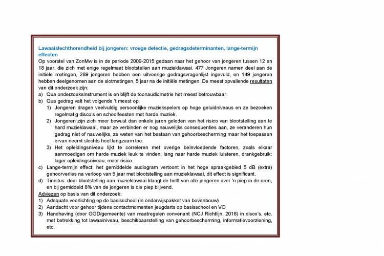 kader met informatie over onderzoek door ZonMW