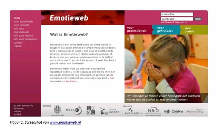 Screenshot van Emotieweb