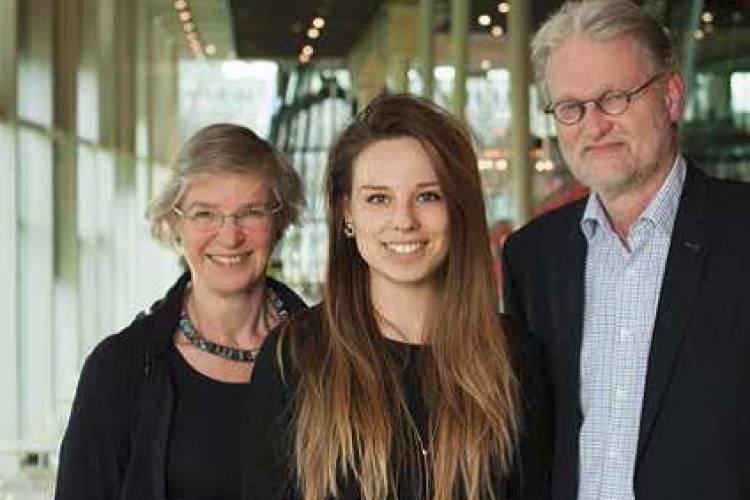 De drie sprekers over CI en muziek: Joke Veltman, Vera van Dijk en Bert van Zanten