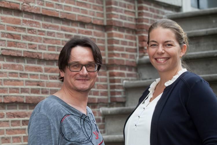 Portret van Daan Hermans en Constance Vissers