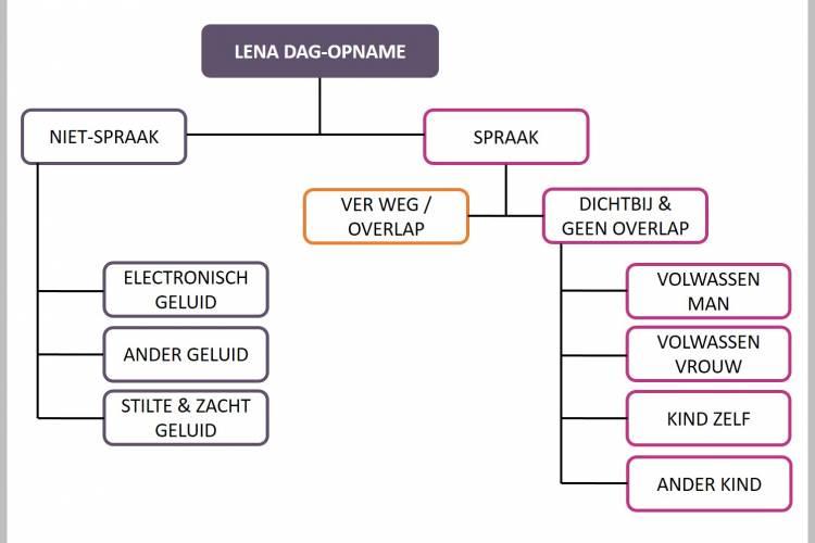 schema met segmentatieonderdelen van LENA